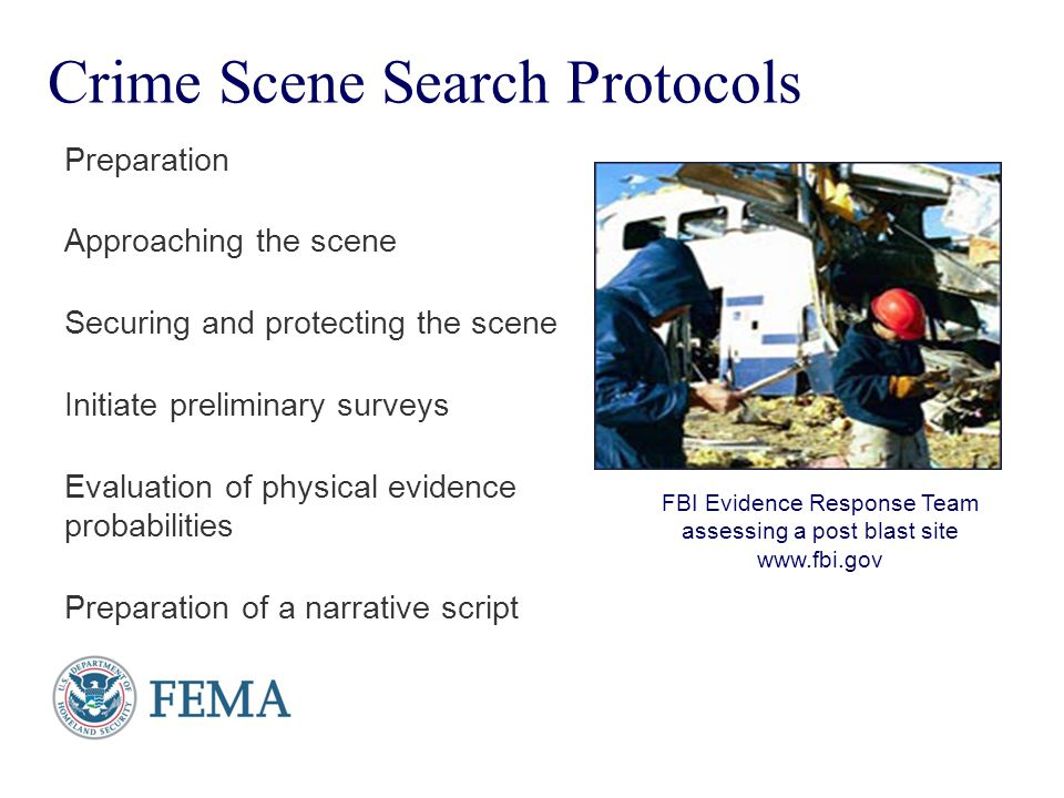 Crime Scene Search Protocols