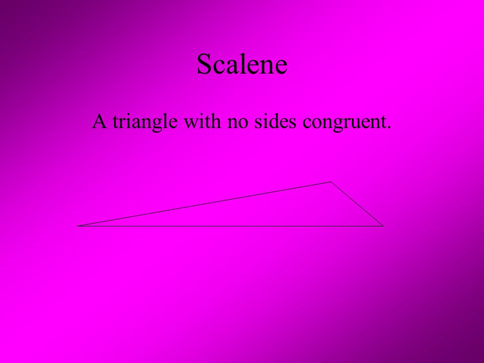 A triangle with no sides congruent.
