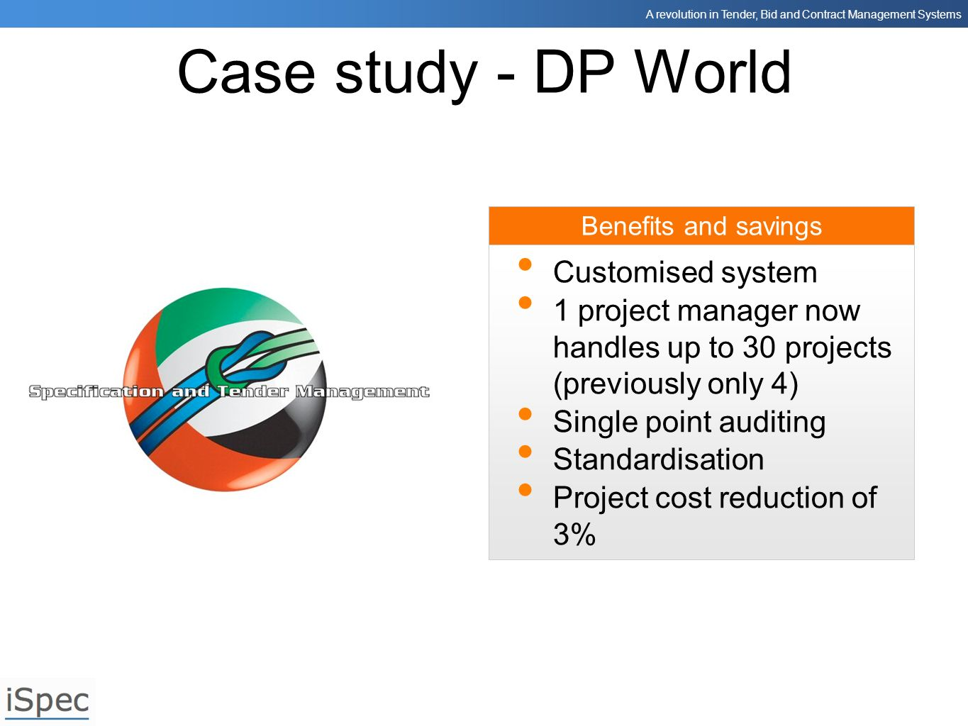 Case study - DP World Customised system