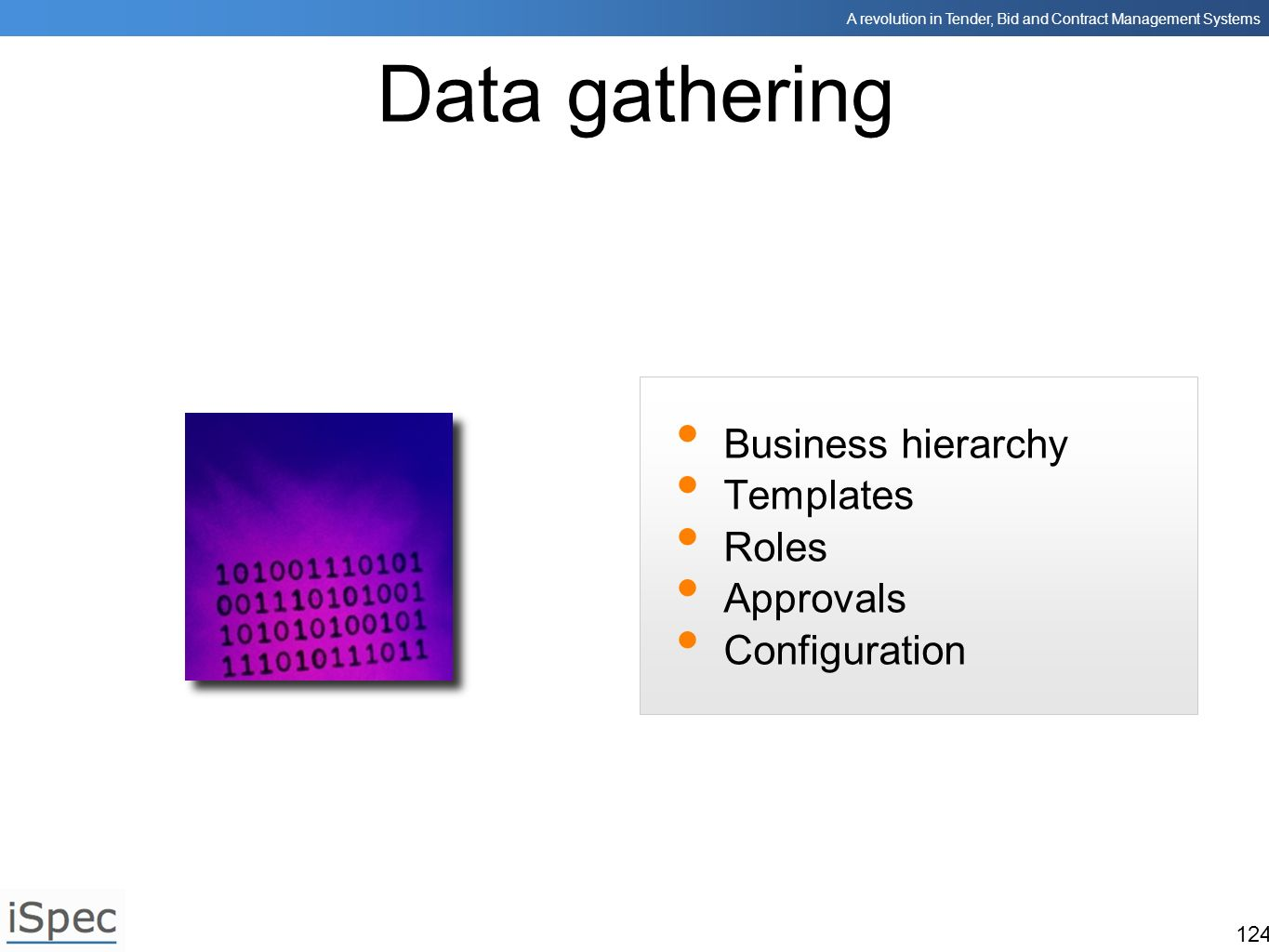 Data gathering Business hierarchy Templates Roles Approvals