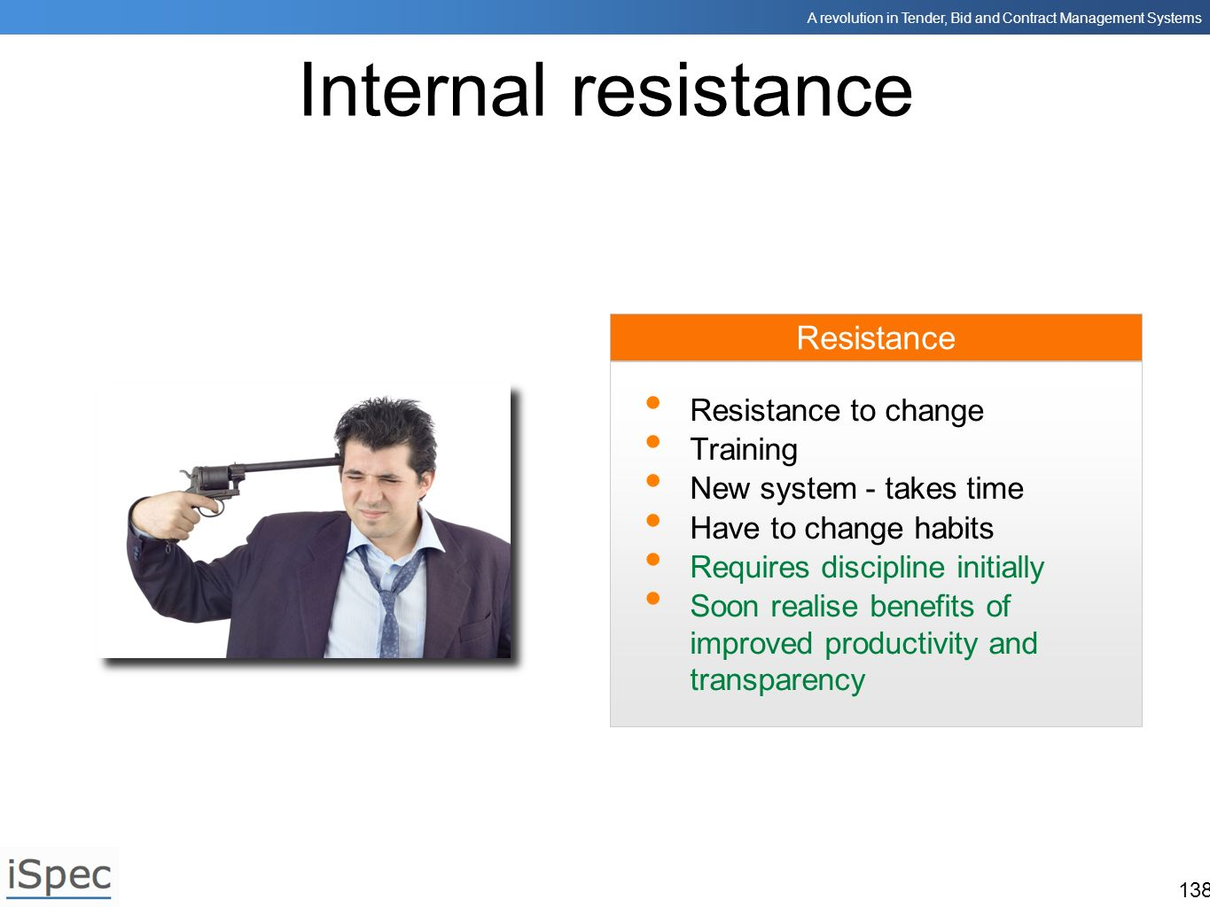 Internal resistance Resistance Resistance to change Training