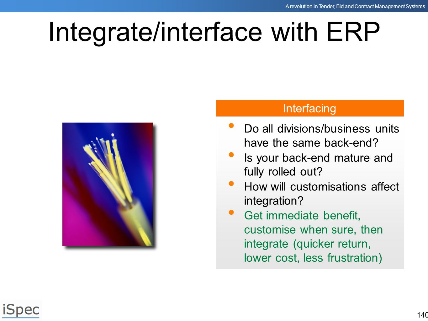 Integrate/interface with ERP