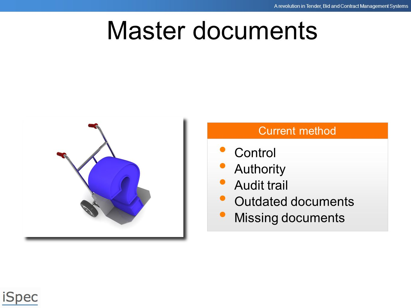 Master documents Control Authority Audit trail Outdated documents