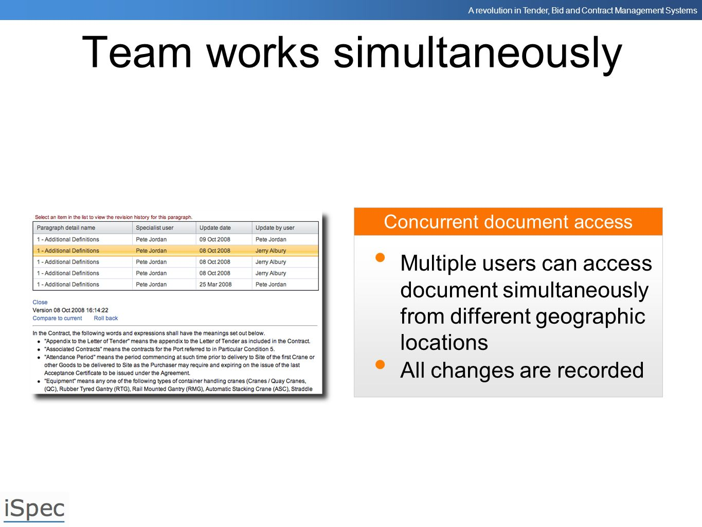 Team works simultaneously