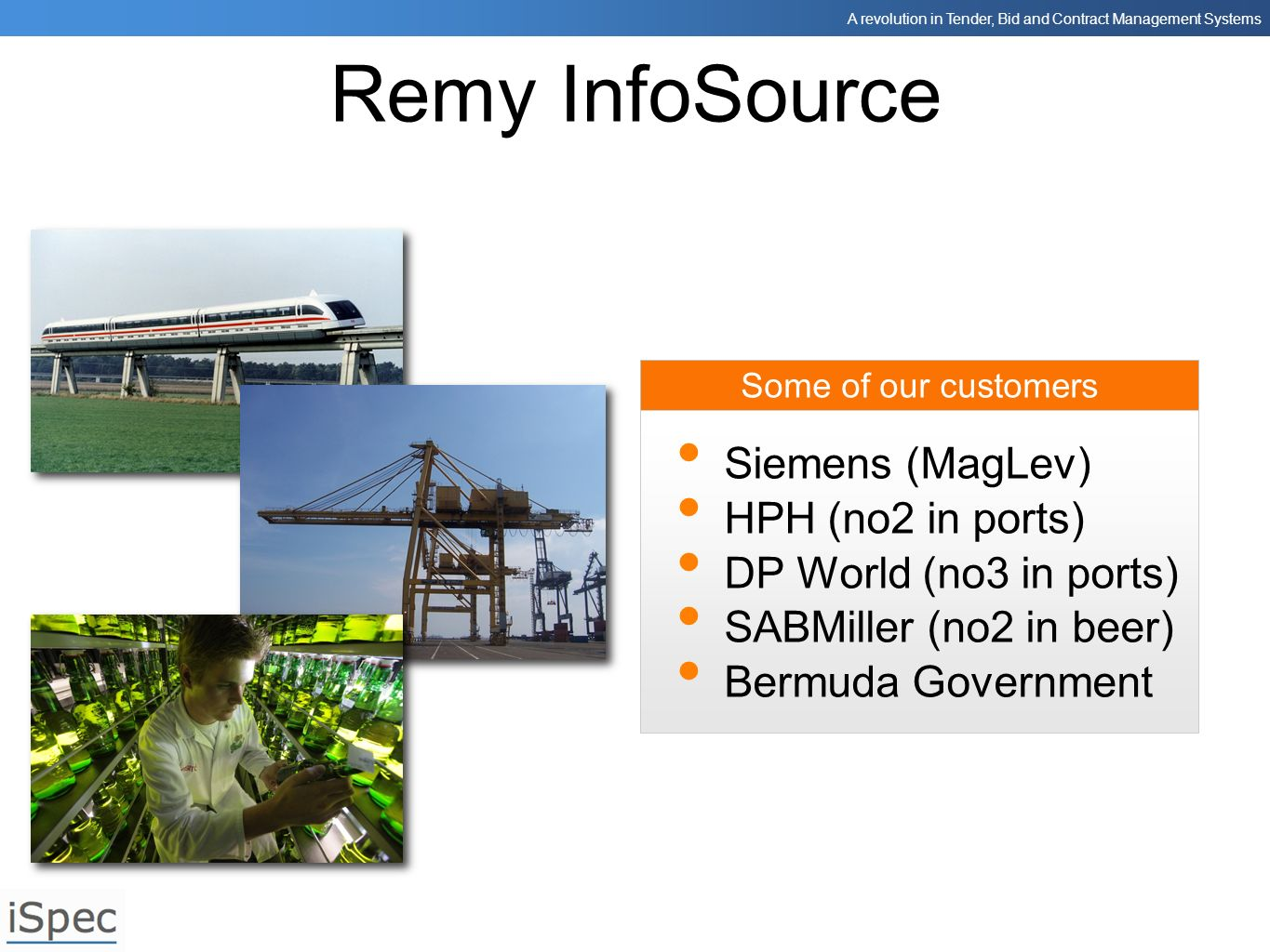 Remy InfoSource Siemens (MagLev) HPH (no2 in ports)