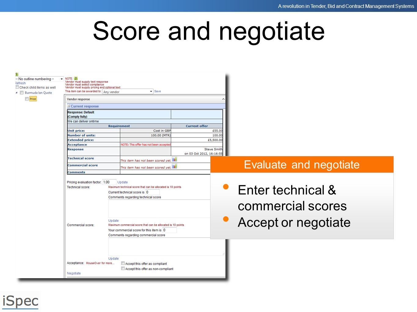 Evaluate and negotiate