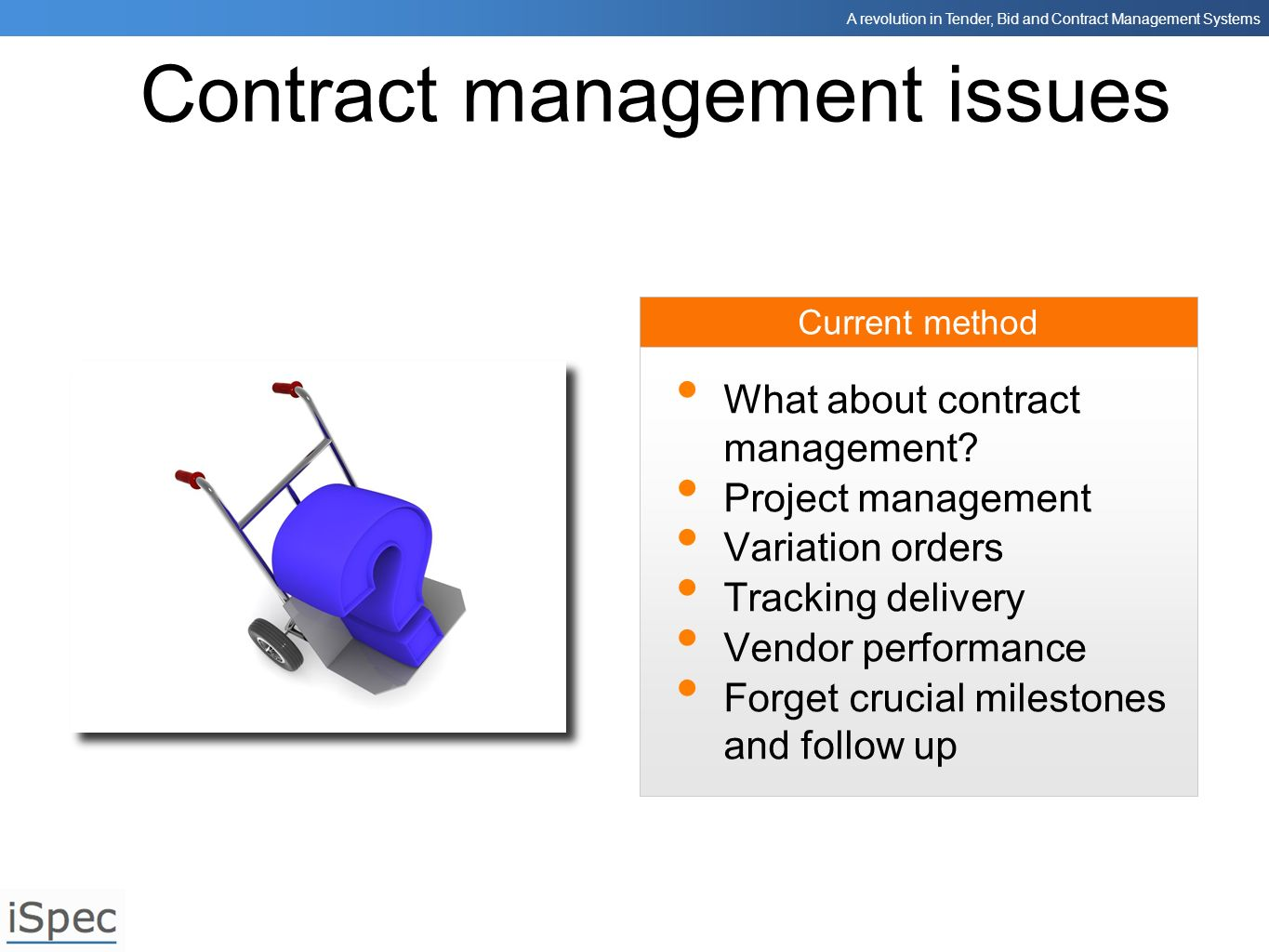 Contract management issues