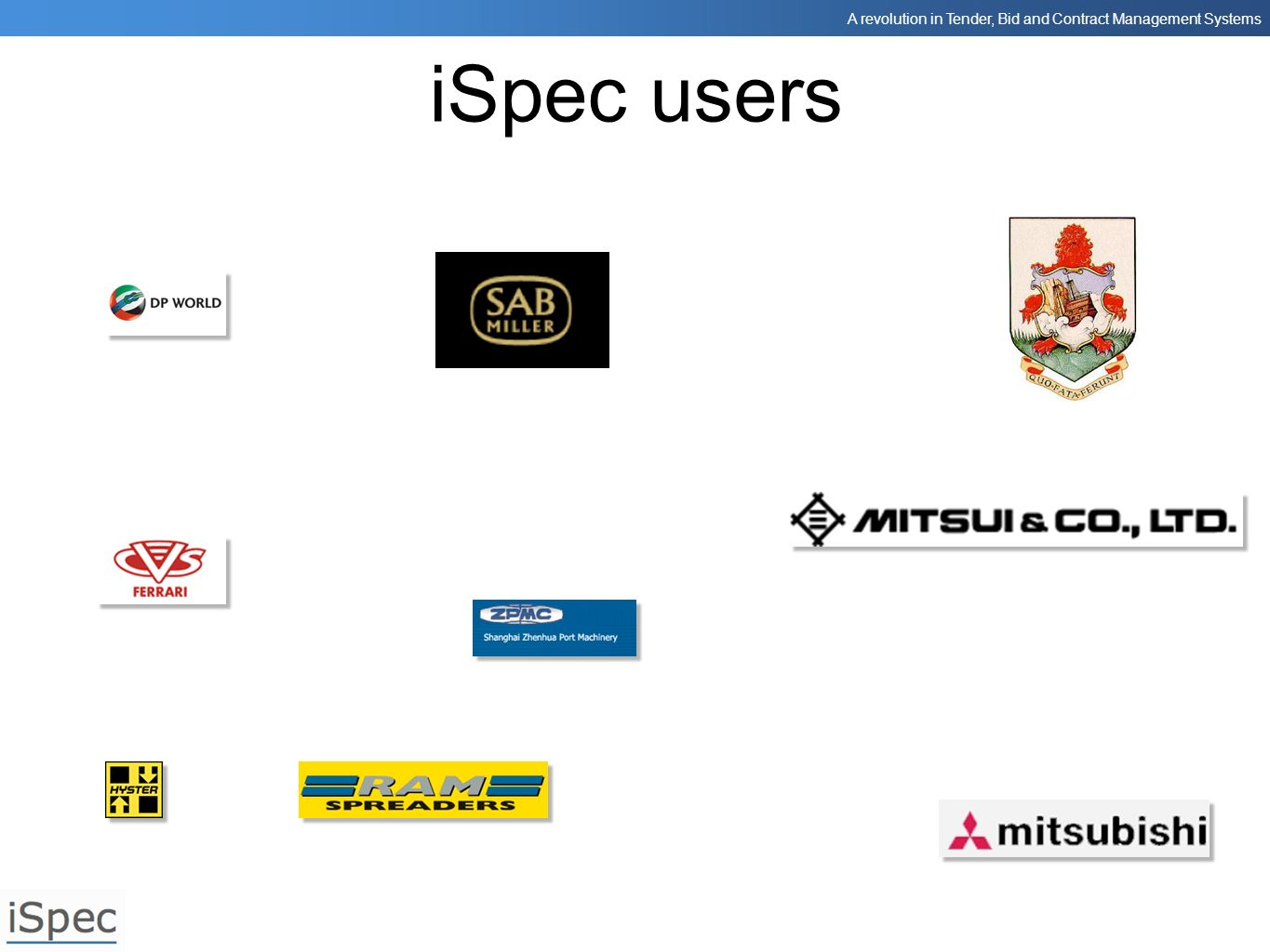 iSpec users These are some of the companies that use iSpec.