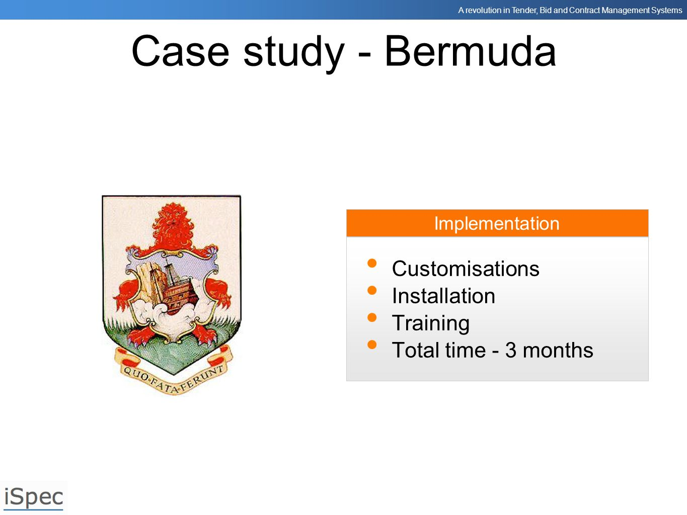 Case study - Bermuda Customisations Installation Training