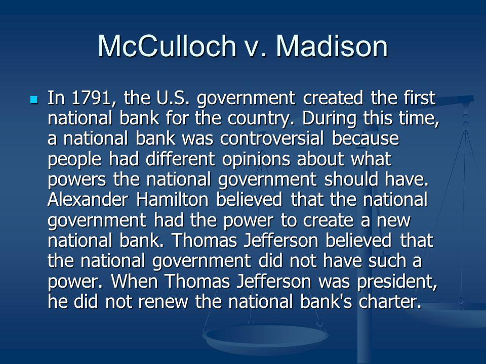 McCulloch v. Madison