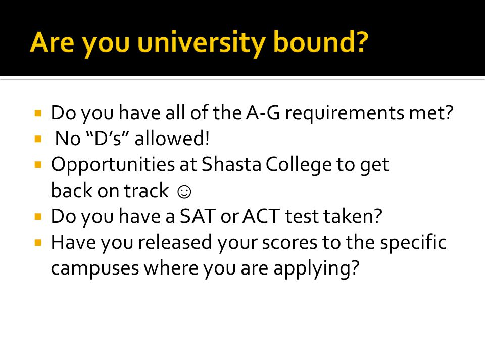 Are you university bound