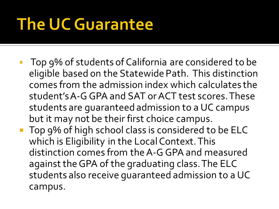 The UC Guarantee