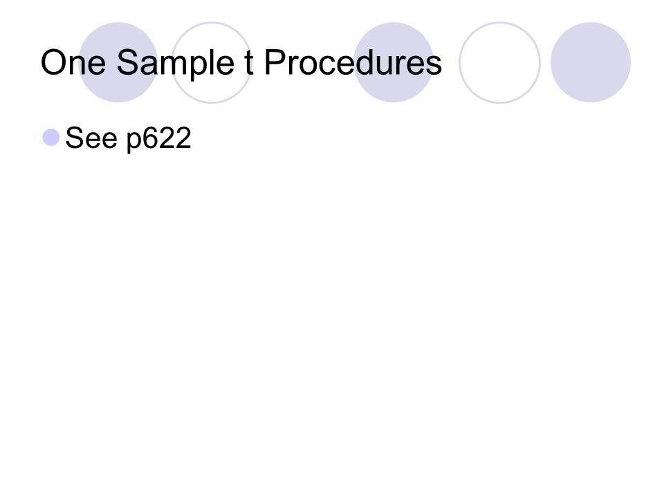 One Sample t Procedures