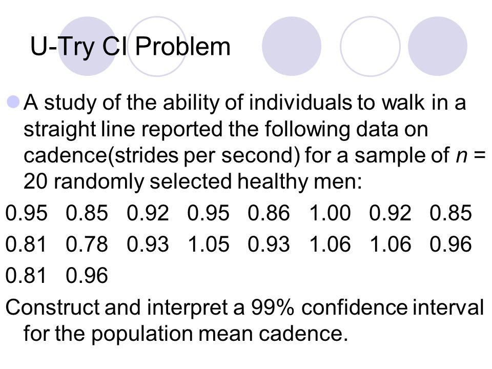 U-Try CI Problem