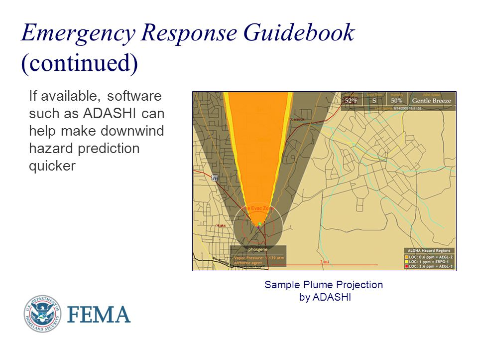 Emergency Response Guidebook (continued)