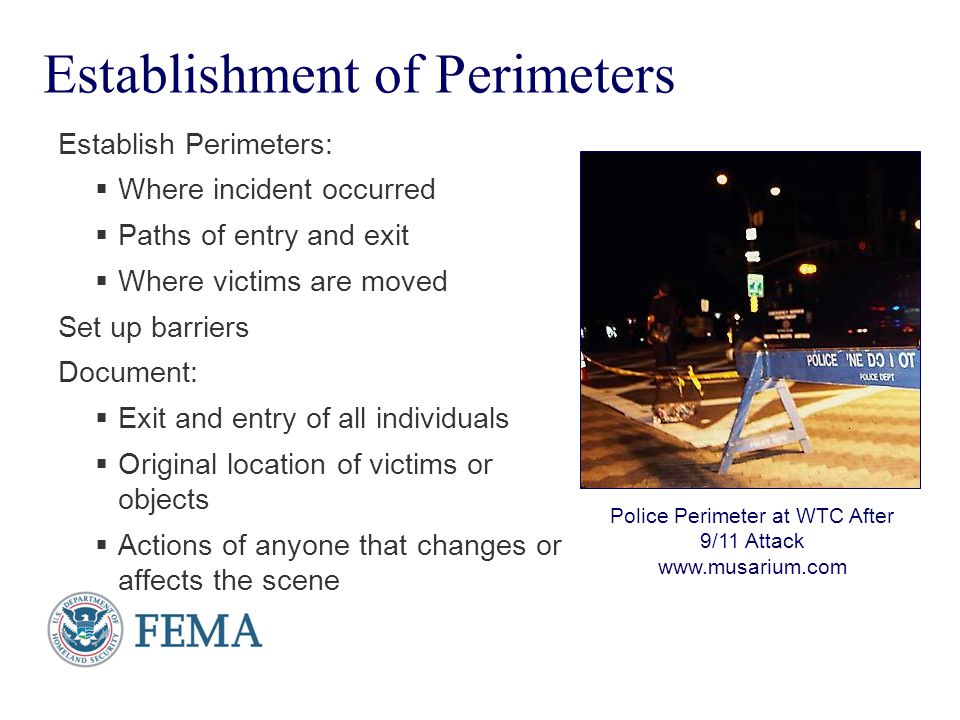 Establishment of Perimeters