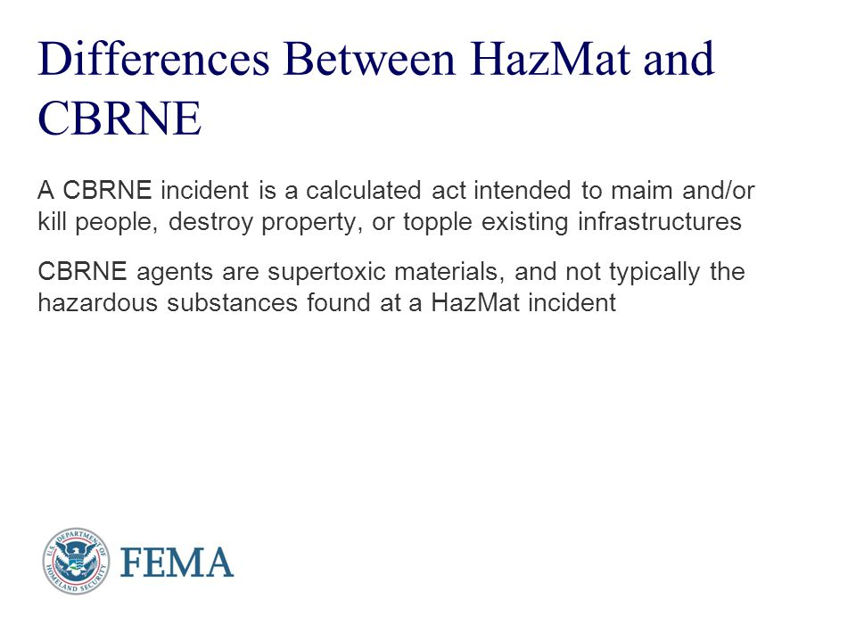Differences Between HazMat and CBRNE