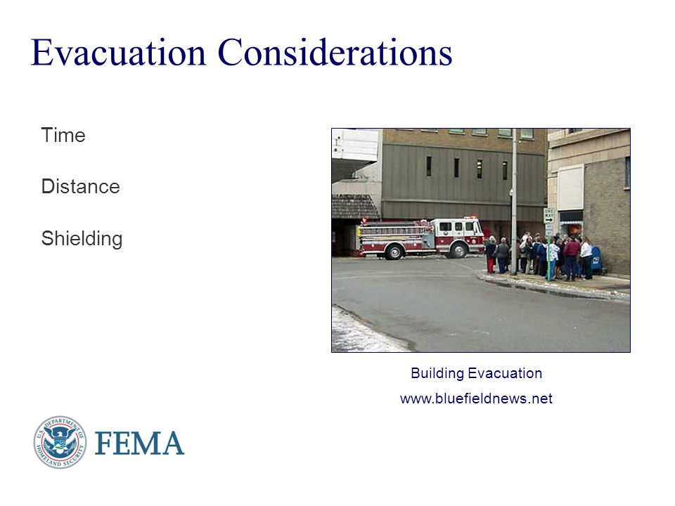 Evacuation Considerations