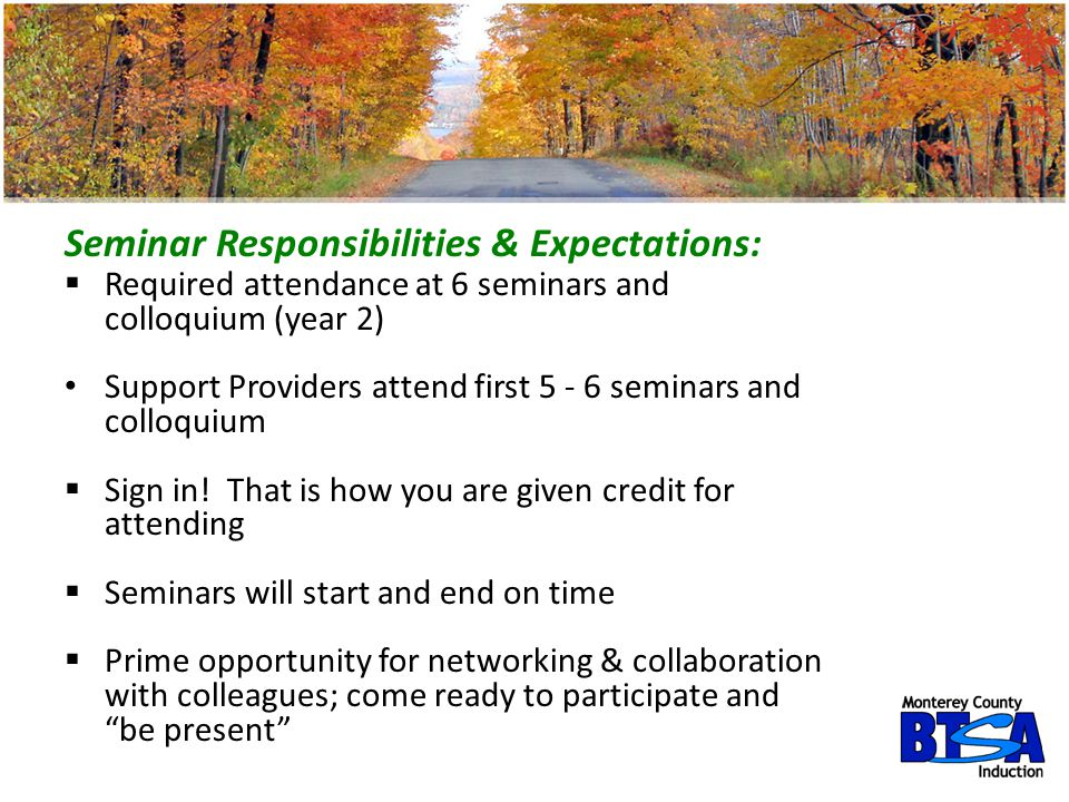 Seminar Responsibilities & Expectations: