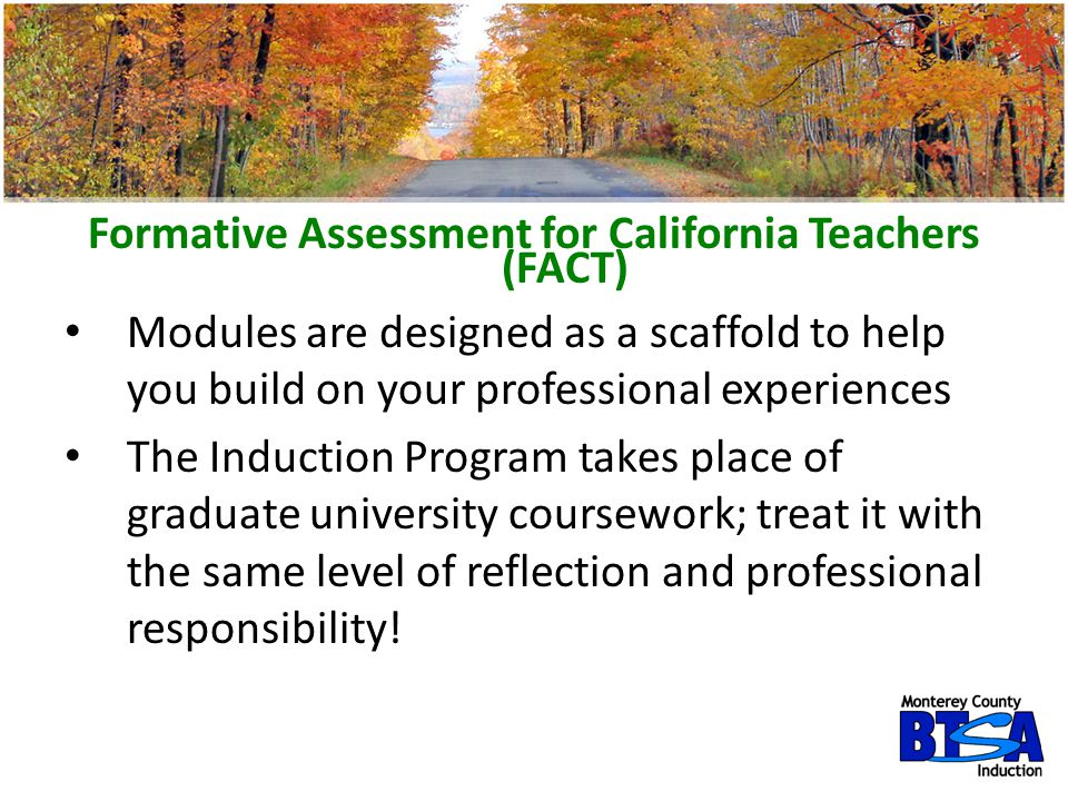 Formative Assessment for California Teachers (FACT)
