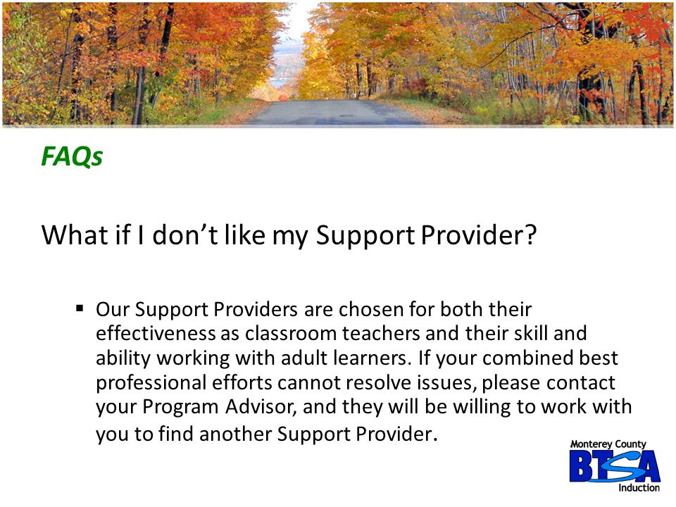 What if I don't like my Support Provider