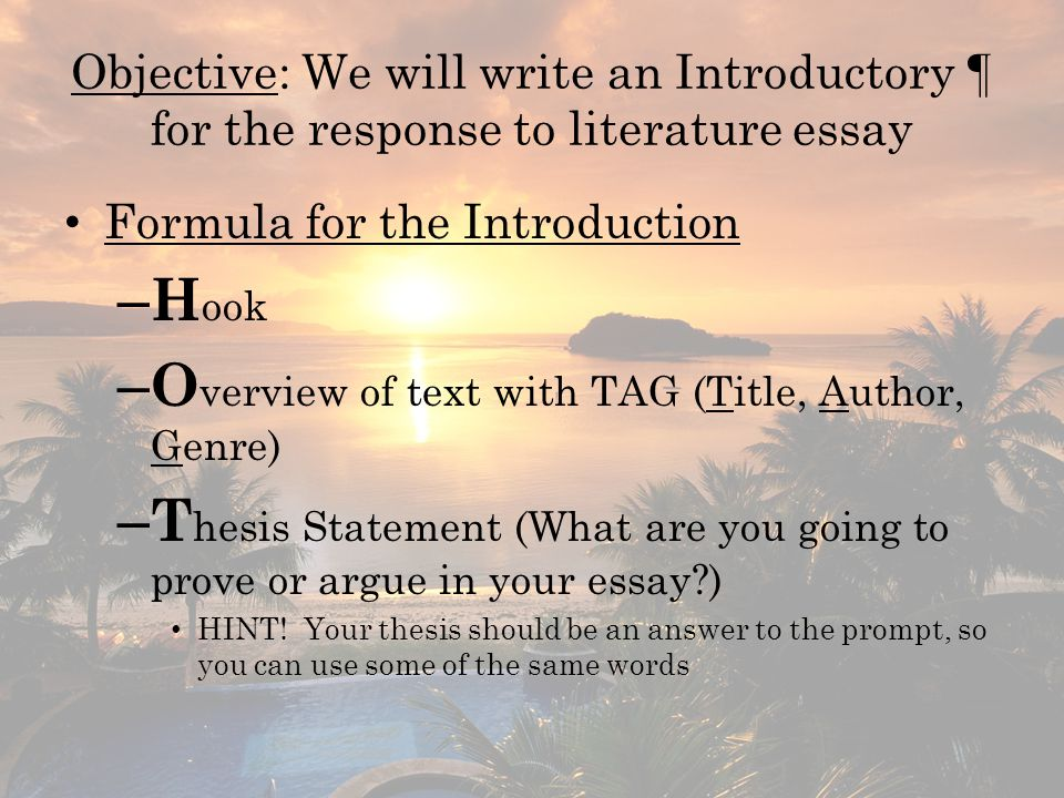 Overview of text with TAG (Title, Author, Genre)