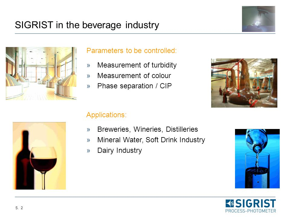 SIGRIST in the beverage industry