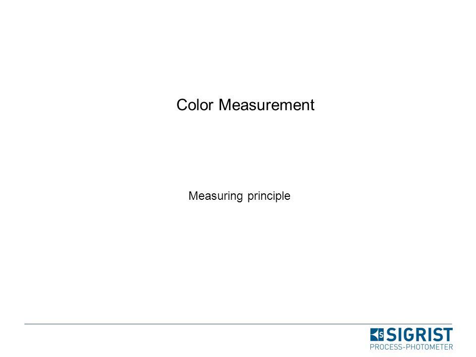 Color Measurement Measuring principle