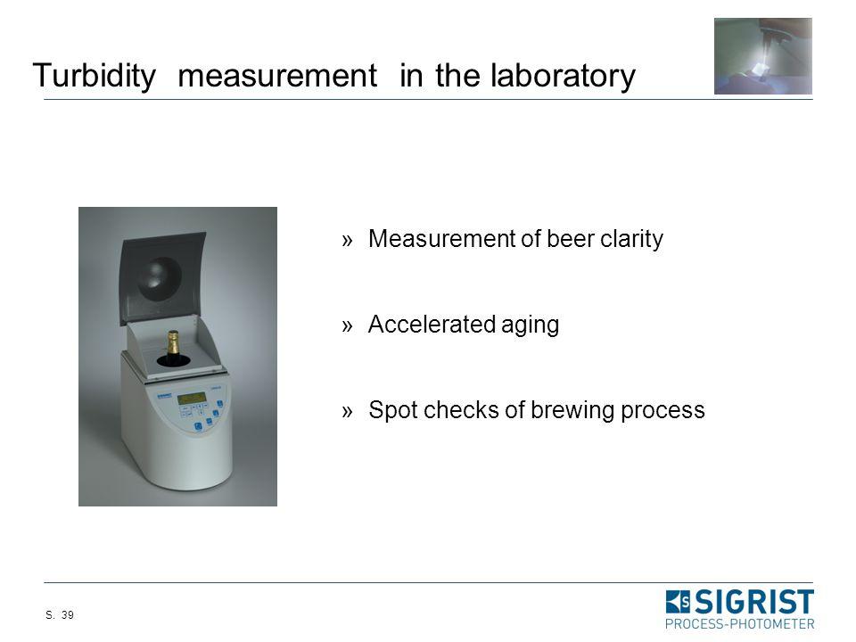 Turbidity measurement in the laboratory