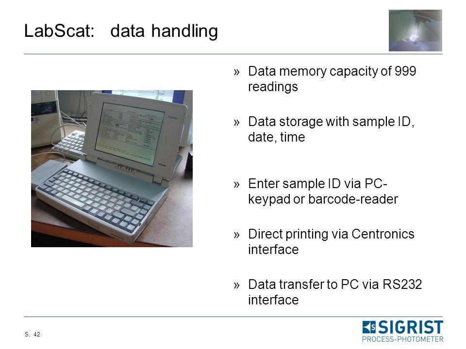 LabScat: data handling