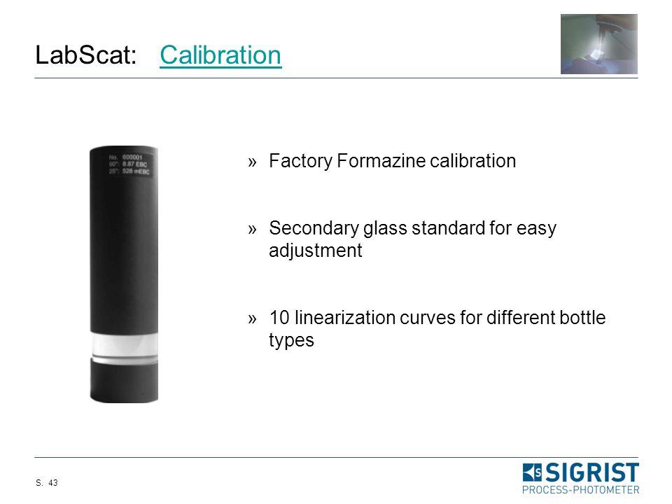 LabScat: Calibration Factory Formazine calibration