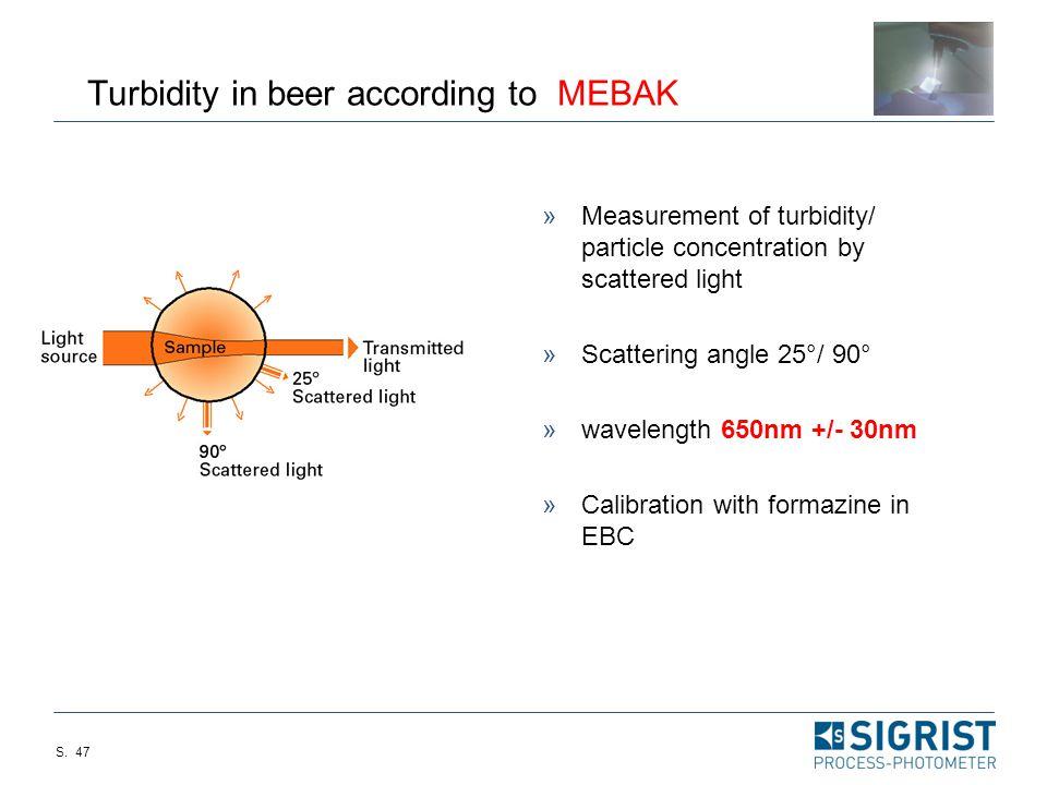 Turbidity in beer according to MEBAK