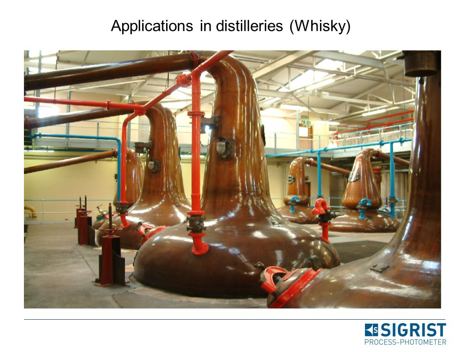 Applications in distilleries (Whisky)