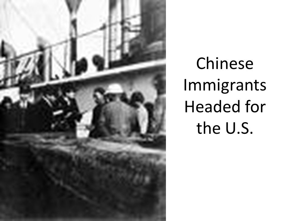 Chinese Immigrants Headed for the U.S.