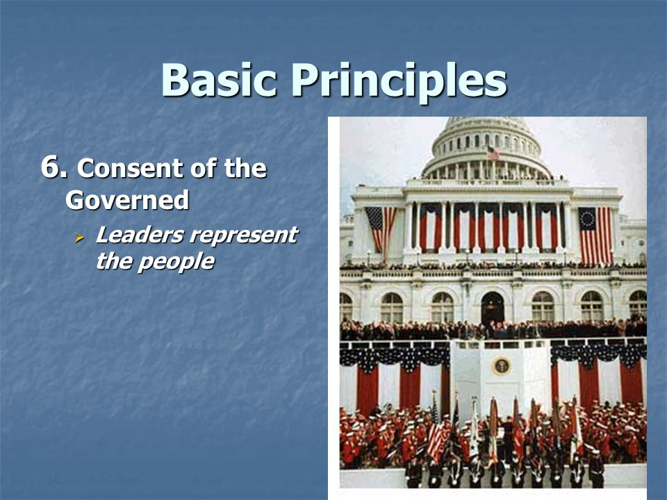 Basic Principles 6. Consent of the Governed