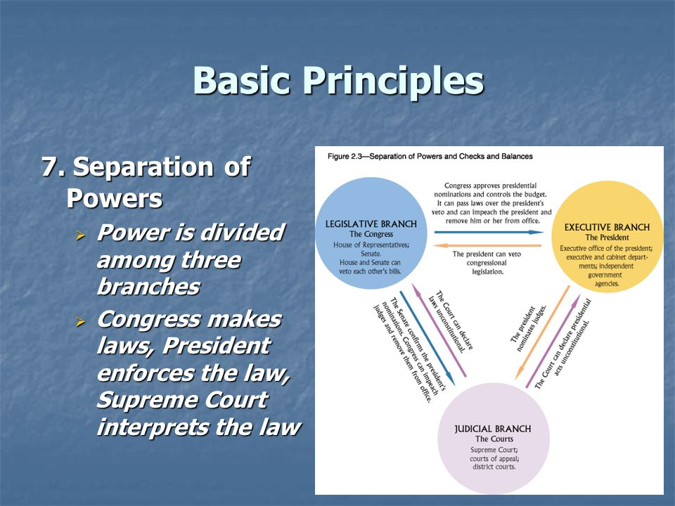 Basic Principles 7. Separation of Powers