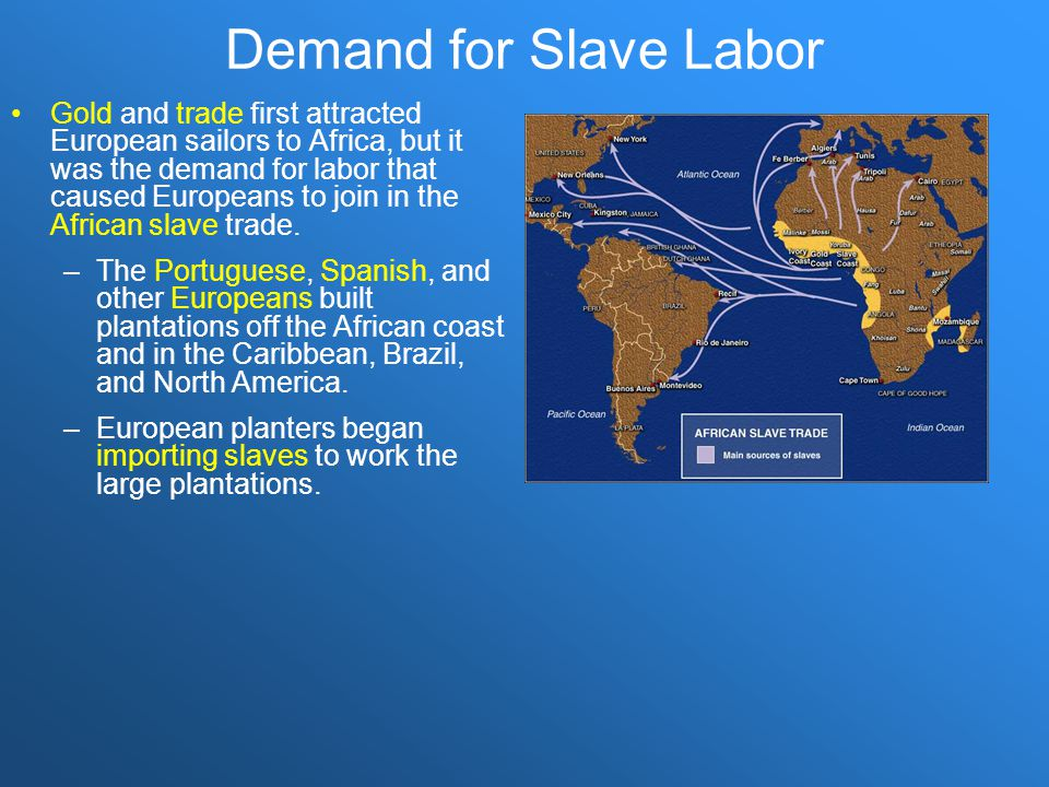 Demand for Slave Labor