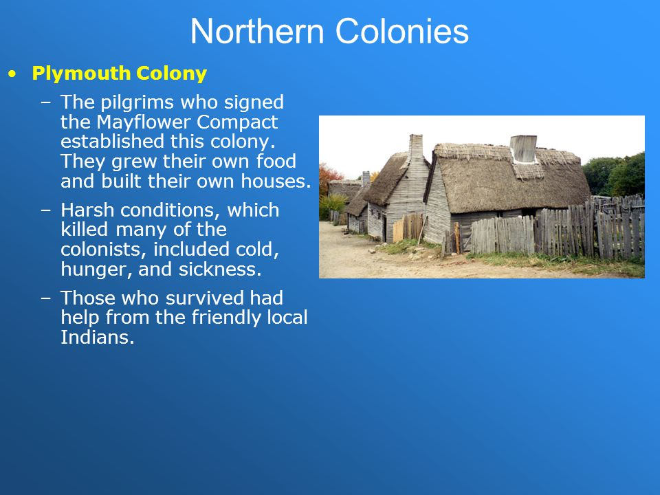 Northern Colonies Plymouth Colony