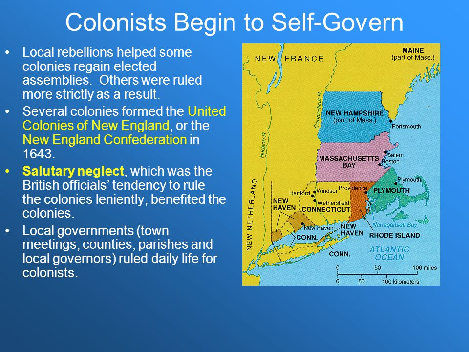 Colonists Begin to Self-Govern