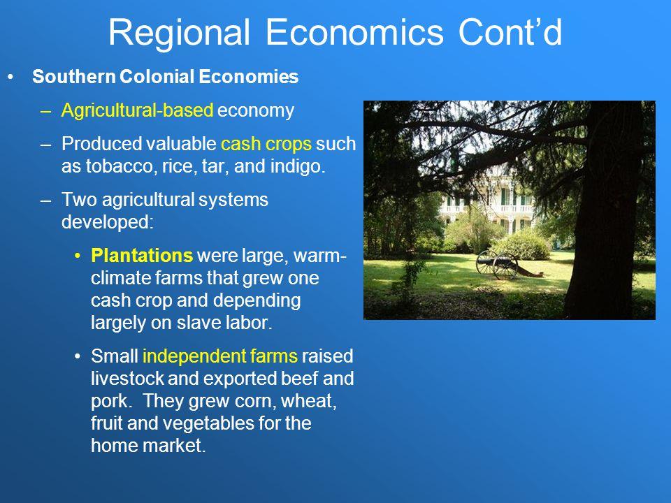 Regional Economics Cont'd