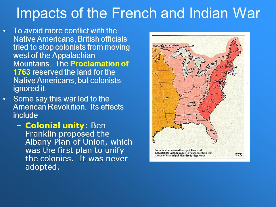 Impacts of the French and Indian War