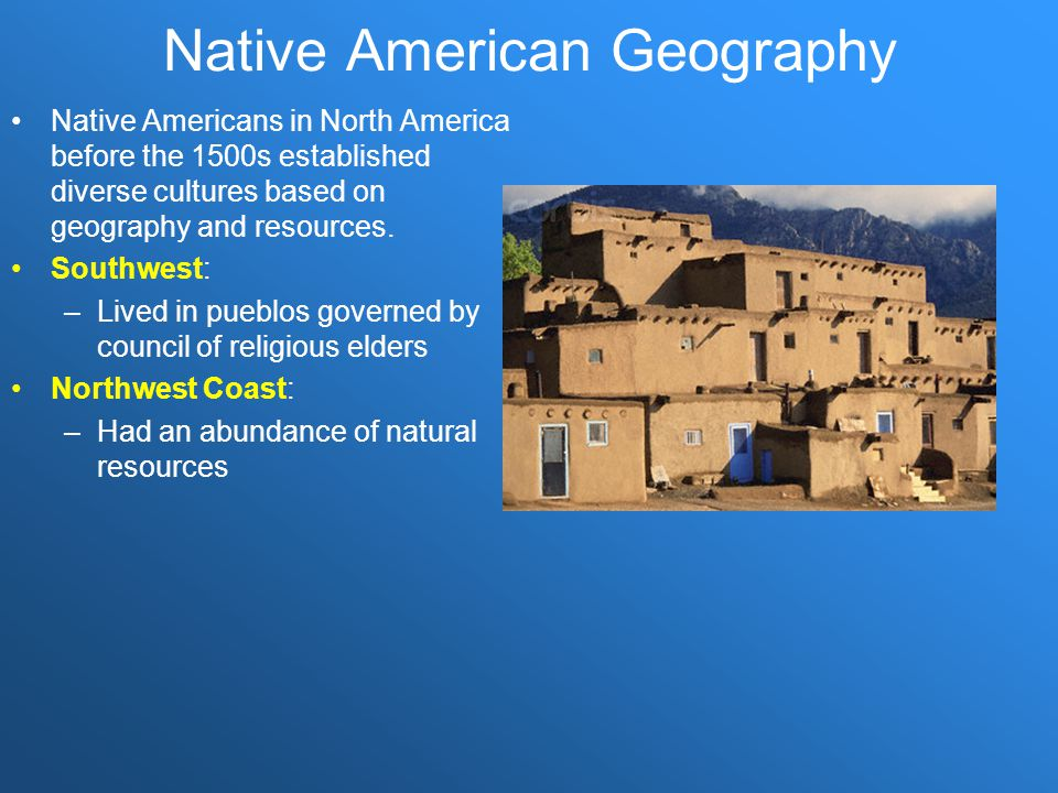 Native American Geography