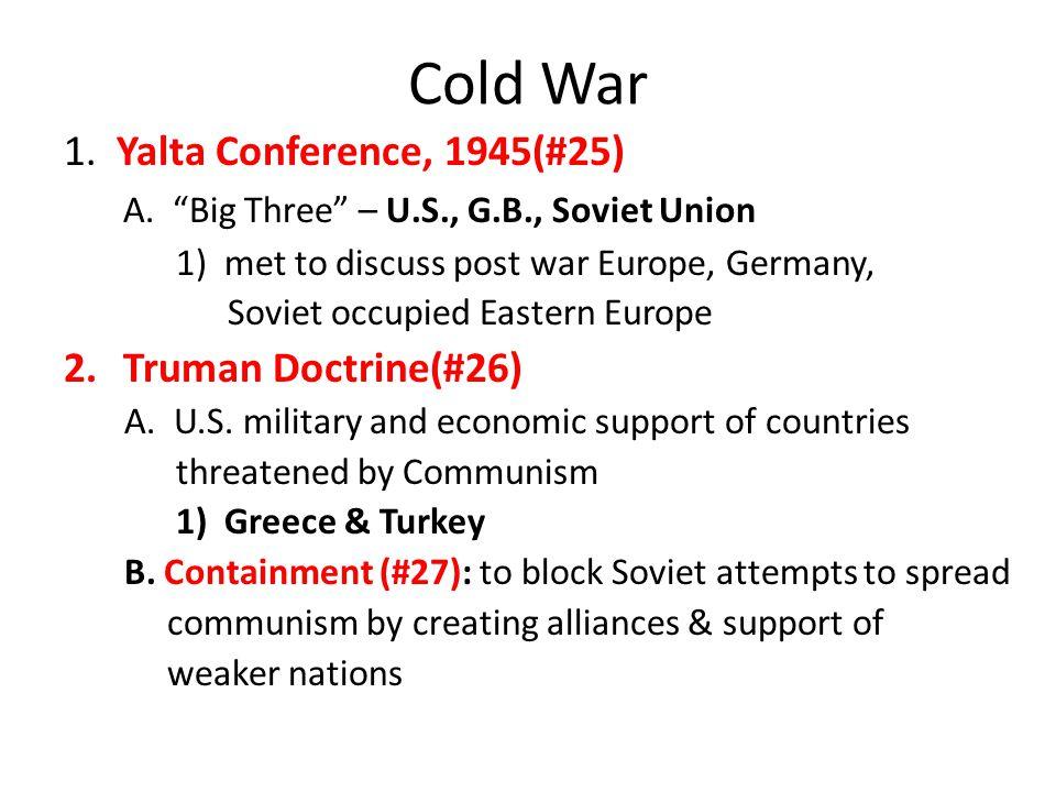 Cold War 1. Yalta Conference, 1945(#25)