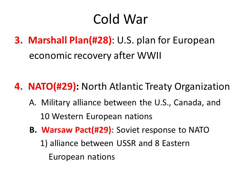 Cold War Marshall Plan(#28): U.S. plan for European
