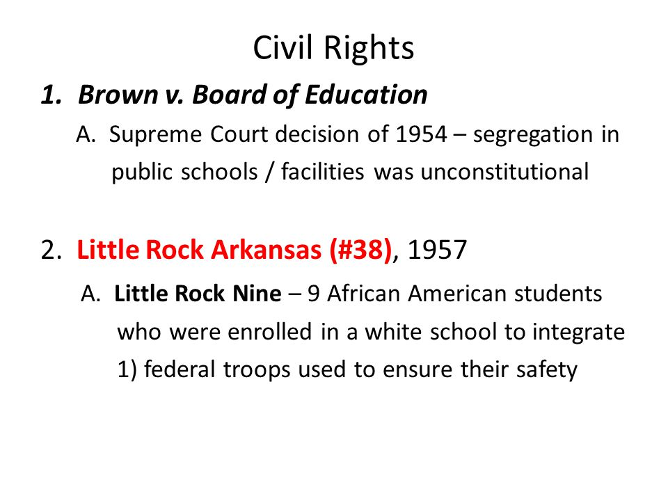 Civil Rights Brown v. Board of Education