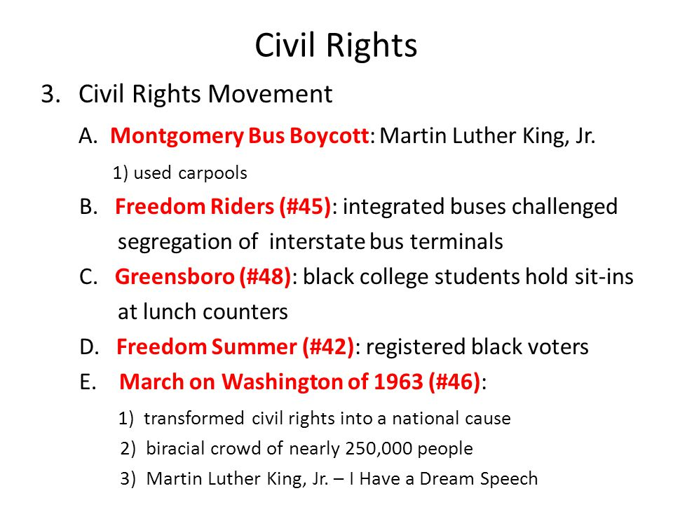 Civil Rights Civil Rights Movement