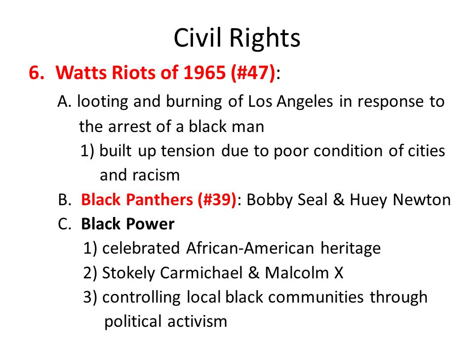 Civil Rights Watts Riots of 1965 (#47):