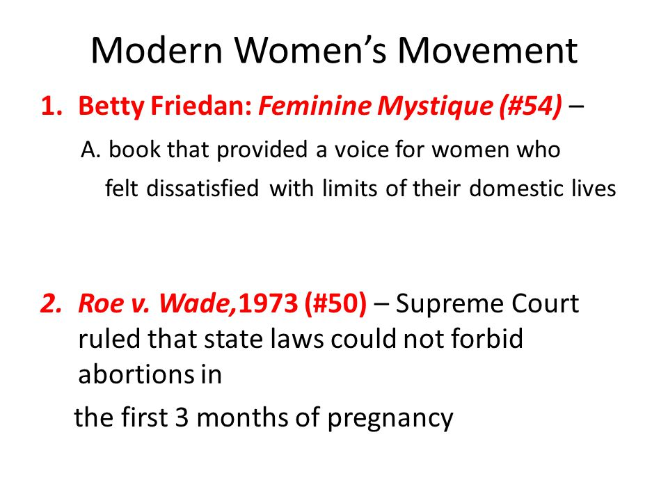 Modern Women's Movement