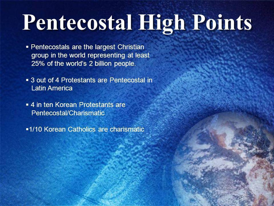 Pentecostal High Points