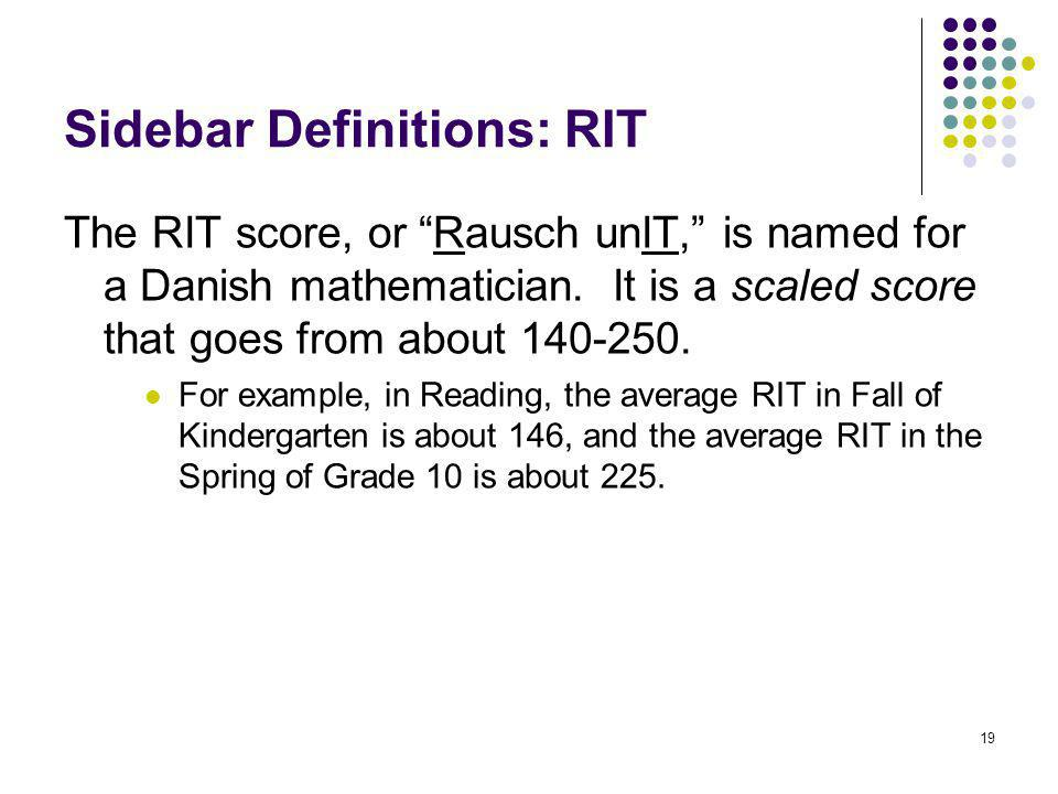 Sidebar Definitions: RIT
